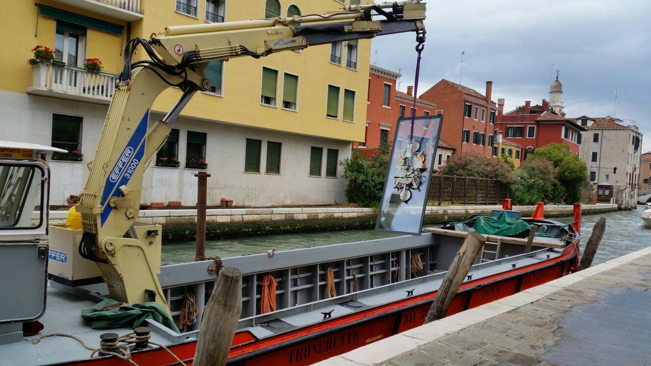 Trasporto e installazione vetri fondazione Venezia