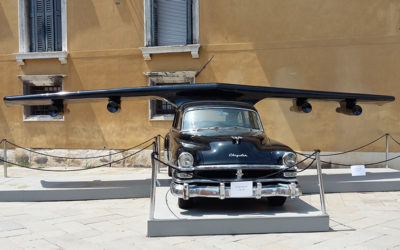 Transporting a Cadillac in Venice