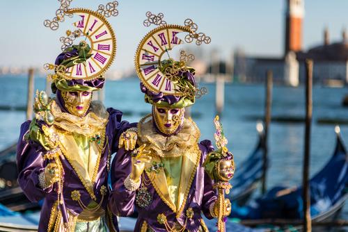 Trasporto materiali per Carnevale 2017 a Venezia