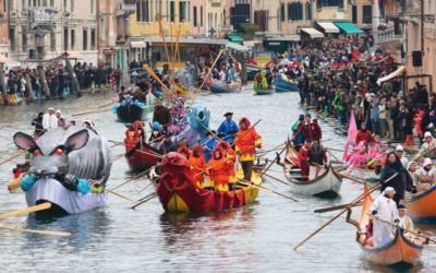 CARNIVAL of Venice 2019: transport of materials and setting up