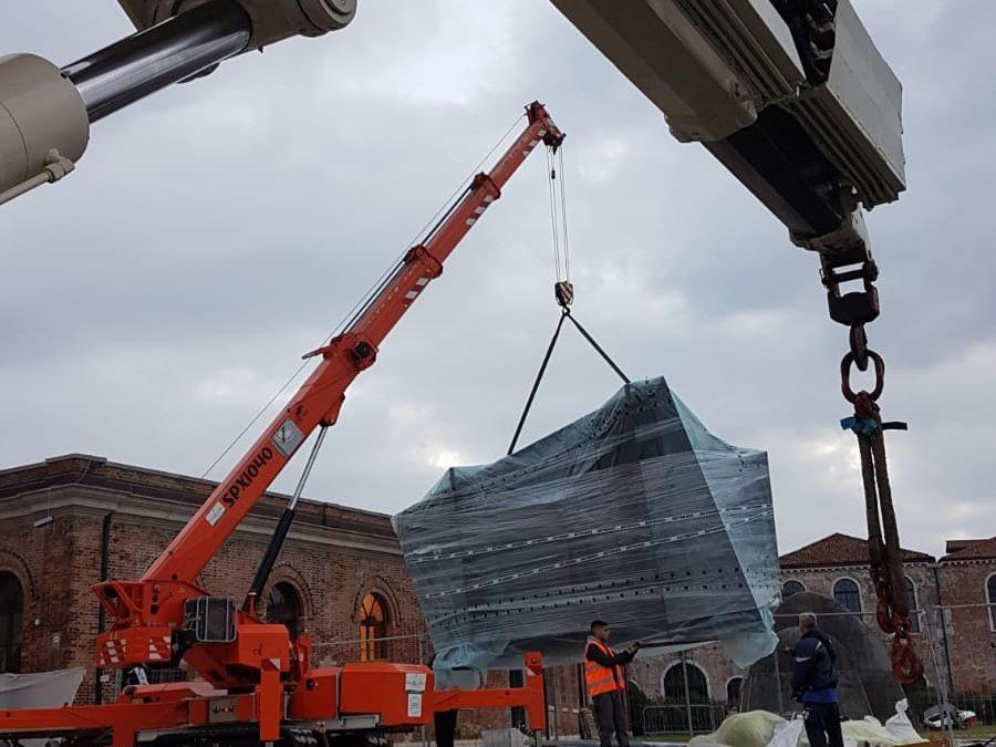 Disallestimento e trasporto materiale per Biennale Architettura 2018