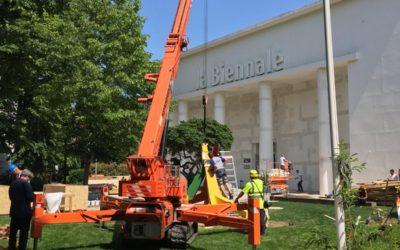 Trasporto materiali e allestimenti per la Biennale Architettura di Venezia 2018