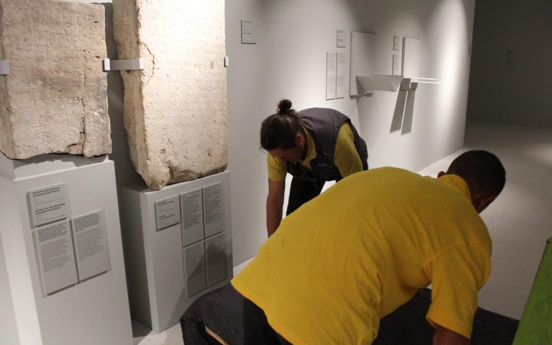 Trasporto di materiali e allestimenti per il Museo Nazionale dell'Ebraismo Italiano e della Shoah